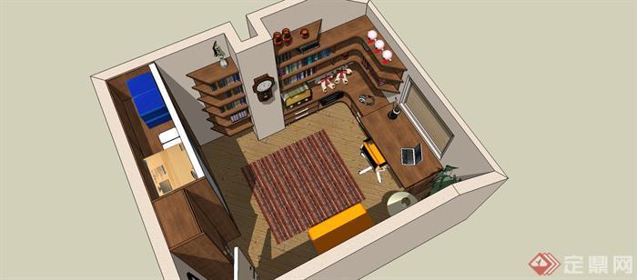精选 室内设计SU精细模型(7)