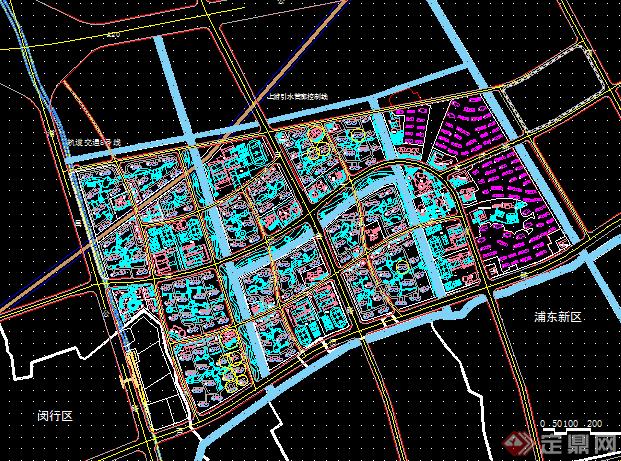 城市设计规划总图,一套非常优秀的城市规划设计案例,图纸内容
