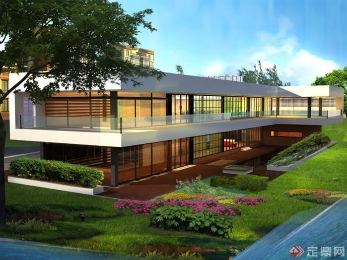 一个现代别墅设计方案资料[原创]