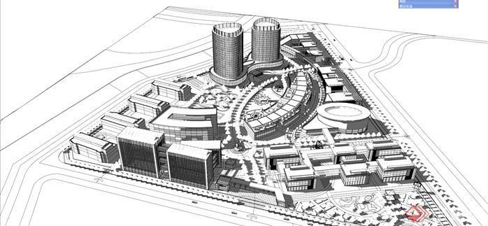 新疆创新科技园建筑设计su精致模型[原创]