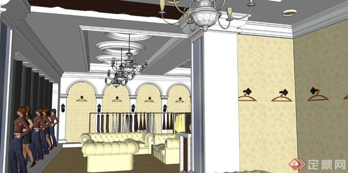 欧式服装店室内设计方案su模型[原创]图片