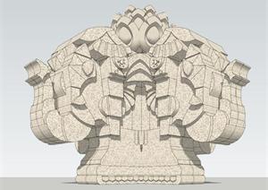 东南亚石雕景观su精致v石雕大象甲方模型设计师职业规划怎么写图片
