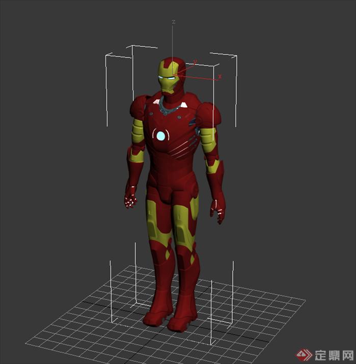 钢铁侠3d模型设计