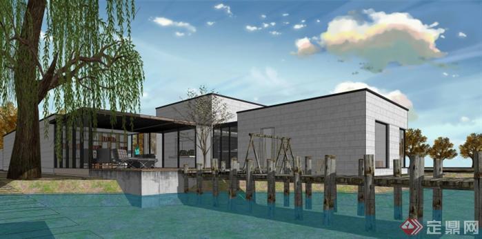 重庆某中式会馆建筑模型设计(7)