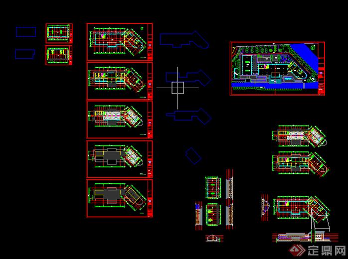 某住宅公寓别墅新中式商业新中式建筑设计方案图[原创]