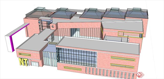 某幼儿园建筑设计方案skp模型[原创]