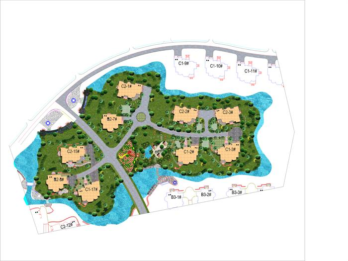 某小岛住宅区规划设计方案图[原创]