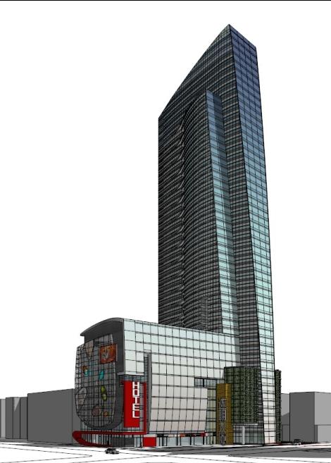 城市新地标商业大厦建筑su精致设计模型[原创]