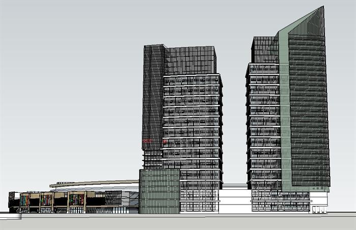 郑州福地商业综合体sketchup精致设计模型(1)
