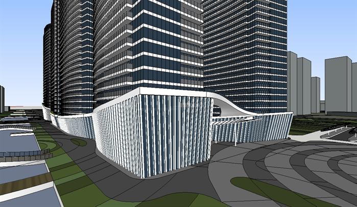 徐州现代商业综合体概念方案su精致设计模型(3)