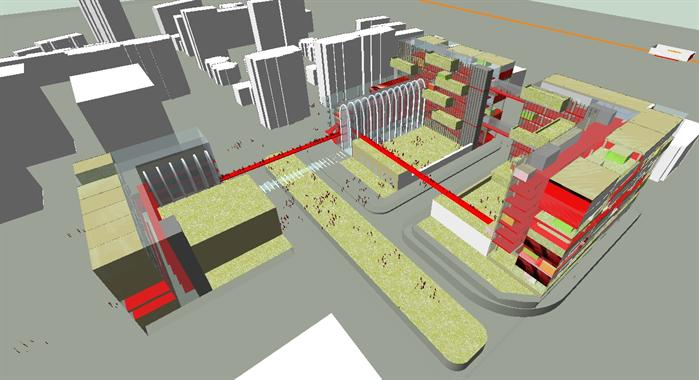 商业广场建筑概念设计方案su模型[原创]