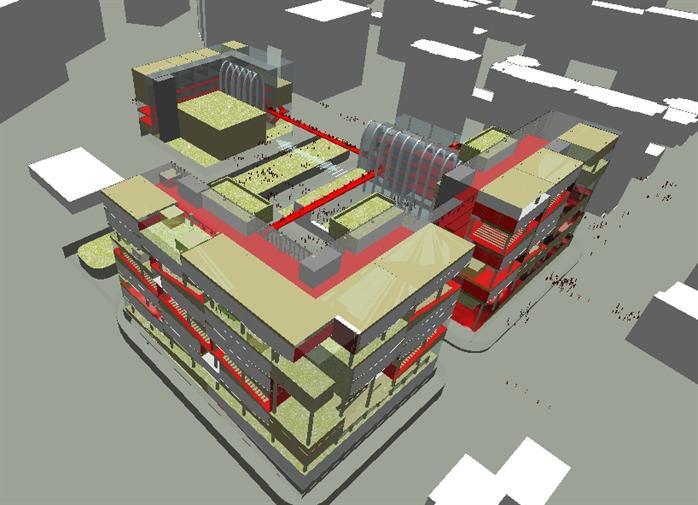 商业广场建筑概念设计方案鸟瞰图(2)