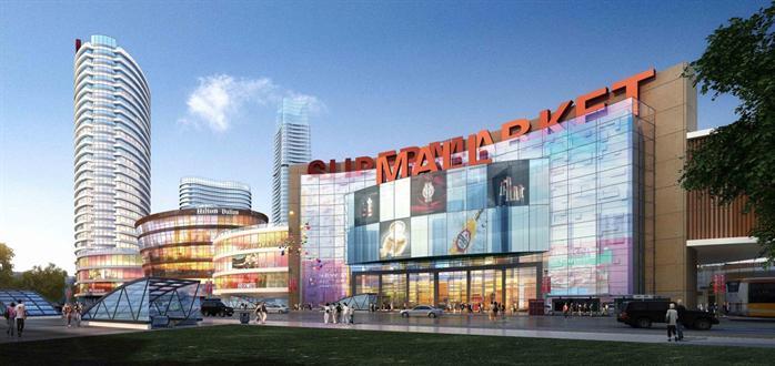 购物中心商业综合体建筑设计方案效果图(1)