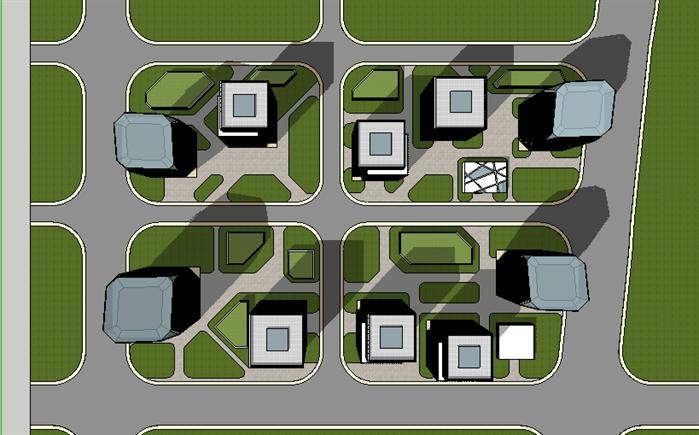 城市商业综合体建筑设计方案顶视图(2)