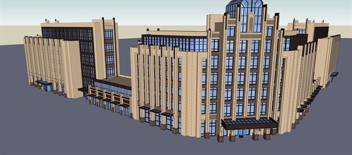 新古典酒店,办公楼现代别墅建筑设计方案效果图(1)