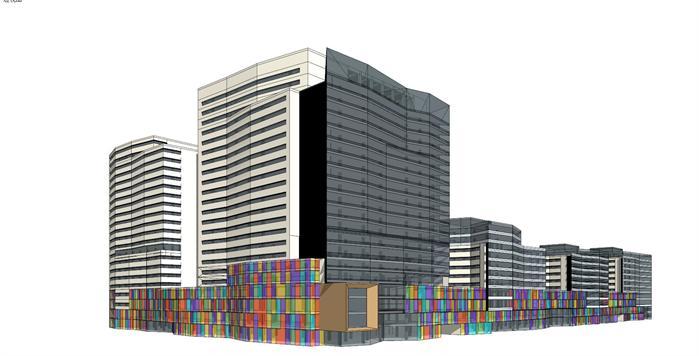 百货大厦综合体建筑设计方案效果图(2)