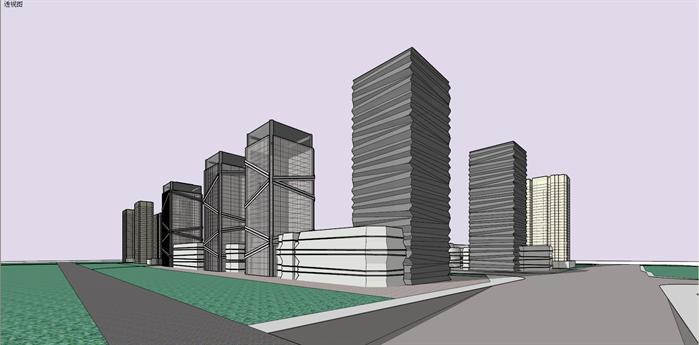科技园综合体建筑设计方案效果图(2)