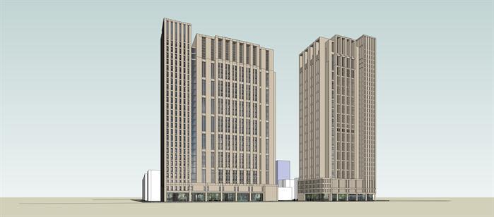 某简欧风格商业大厦建筑方案设计su模型[原创]