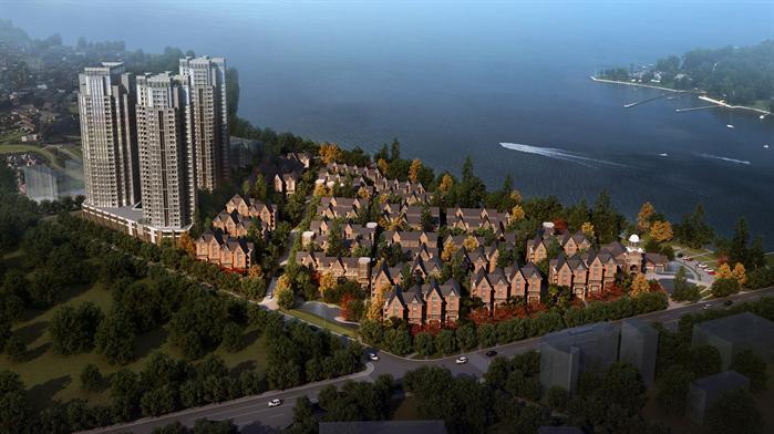 某欧式高层别墅小区建筑方案设计3d模型效果3