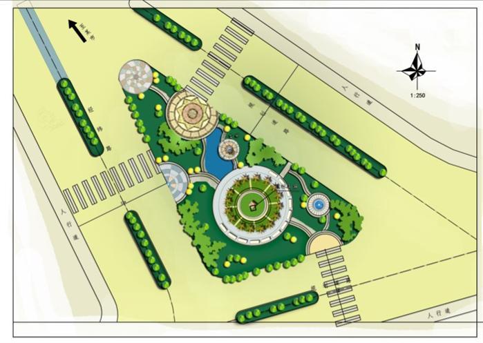 街旁绿地景观设计平面图[原创]
