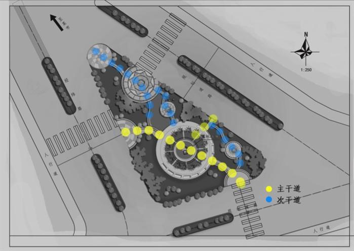 街旁绿地景观设计平面图-设计师图库