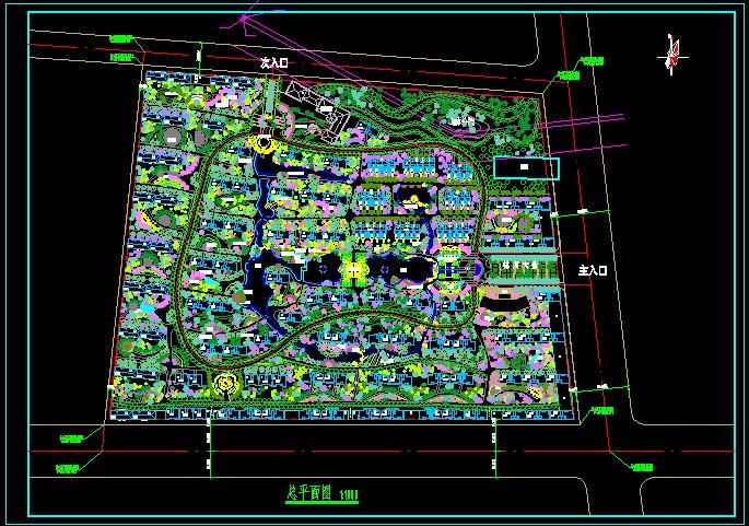 武汉某小区景观设计方案平面图[原创]