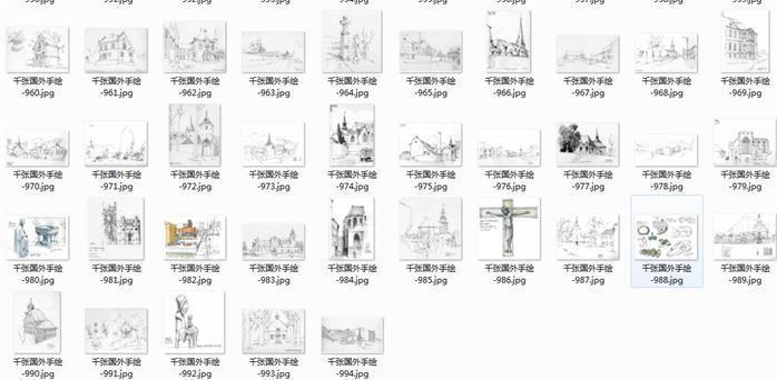 千张国外手绘建筑景观效果图