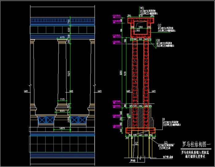 欧式大门建筑单体全套施工图[原创]