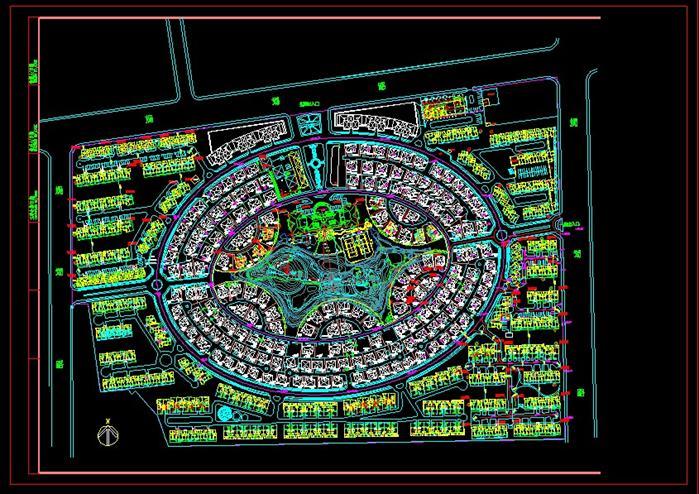 景观小区规划设计总平面图 1