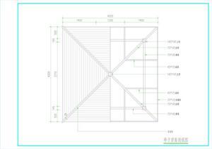 景观亭、栏杆施工图