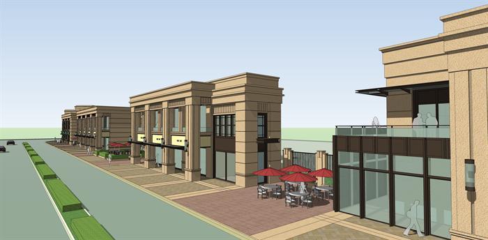 新古典商业街建筑设计方案效果图(1)
