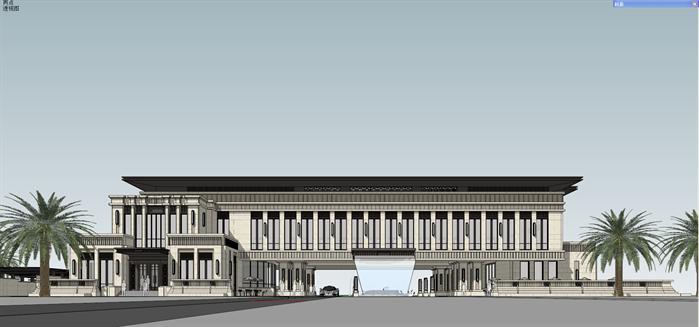 新古典bl会所项目建筑设计方案局部效果图(2)