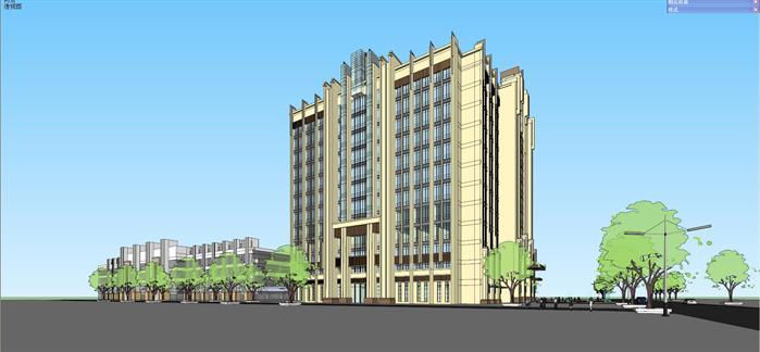 新古典酒店建筑设计方案效果图(3)
