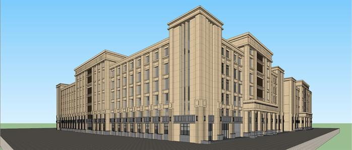 某新古典办公建筑设计方案效果图(2)