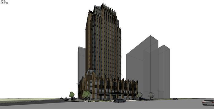 新古典金融大厦建筑设计方案效果图(2)