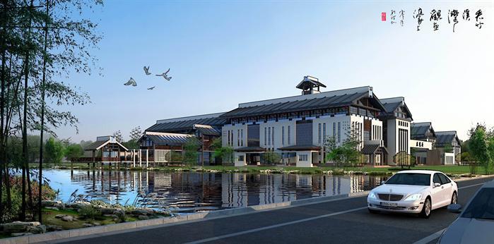某新中式会所和艺术馆建筑设计方案su模型[原创]
