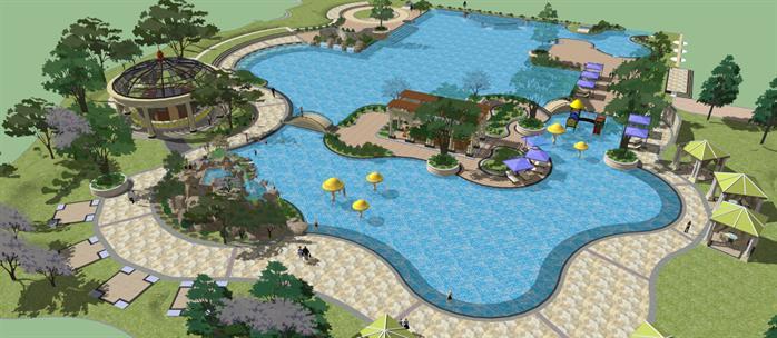 某公园水景节点景观设计(su模型)[原创]