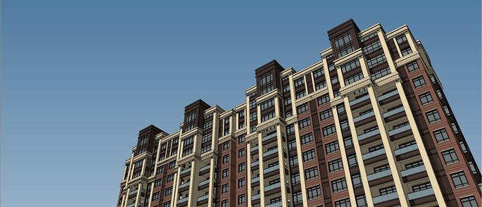 某简欧风格高层小高层住宅楼建筑方案设计su模型