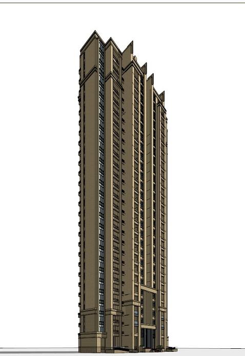 art deco住宅公寓建筑设计方案效果图(2)