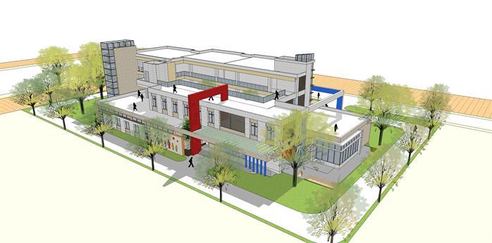某幼儿园建筑方案设计效果图2