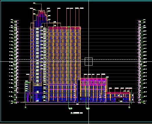 酒店综合楼建筑设计 含效果图 cad施工图