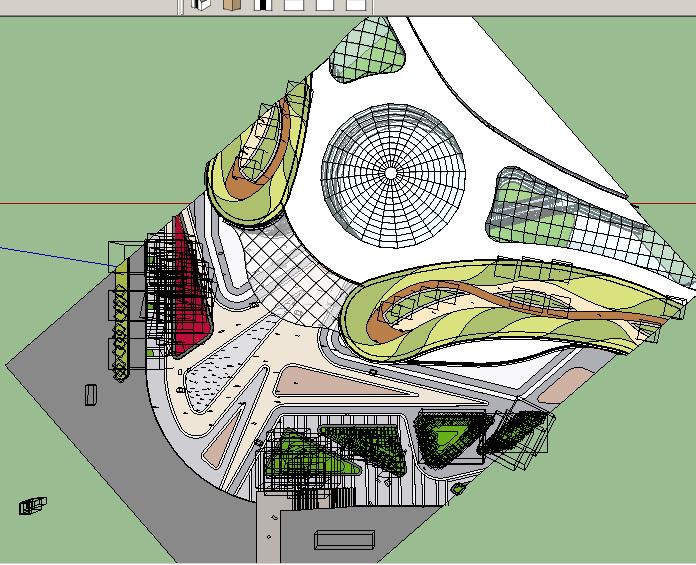常州某小区商业广场入口景观设计su模型