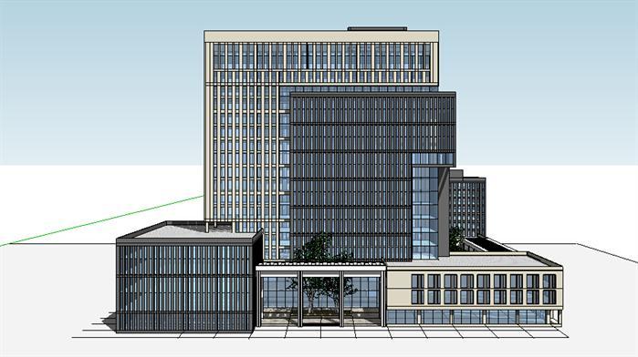 某商务办公楼建筑设计方案(su模型)[原创]