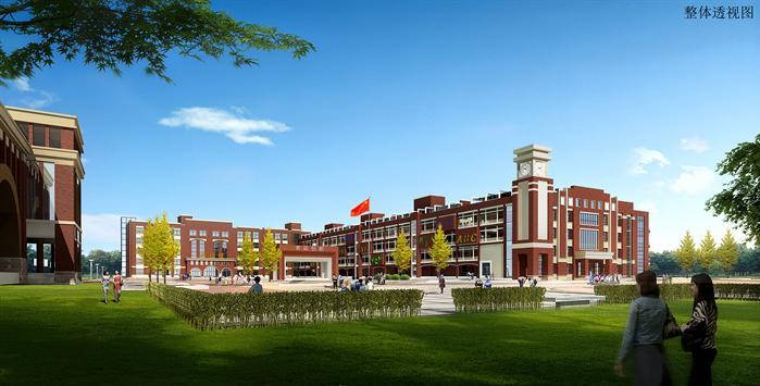 某小学景观建筑设计方案效果图(1)-某小学景观建筑设计方案su模型