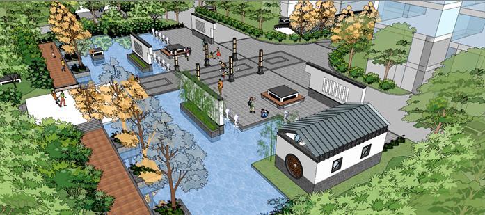某居住区景观设计方案局部效果图(6)