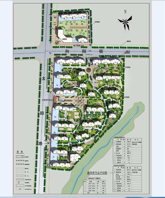 某小区规划方案设计总平面图(2)
