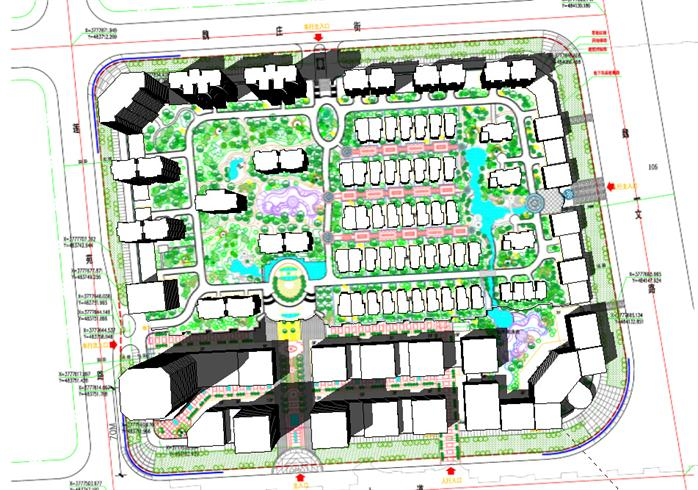 某CBD商业区景观设计SU模型