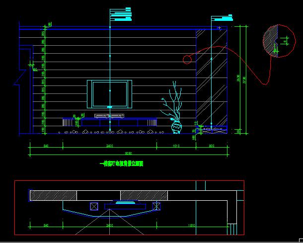 二层别墅装饰施工图-约220平(4)