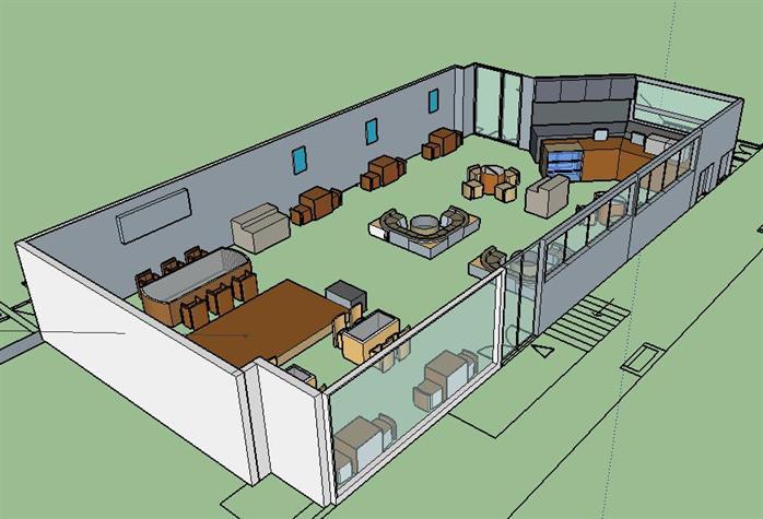 某咖啡馆室内设计方案(作业)2