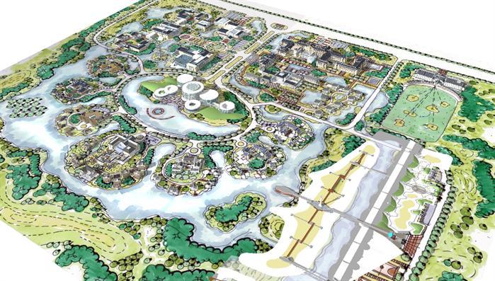 某温泉度假区景观设计方案su模型[原创]